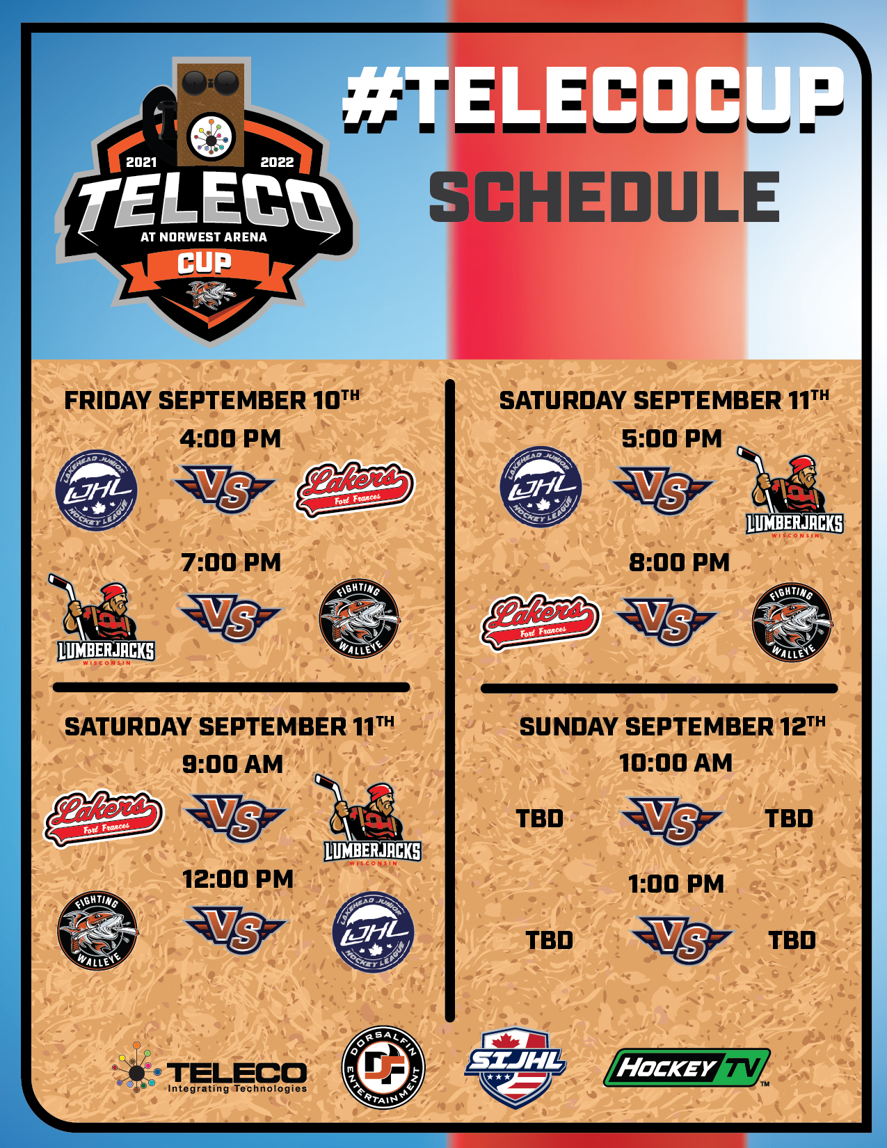 #TelecoCUP Schedule